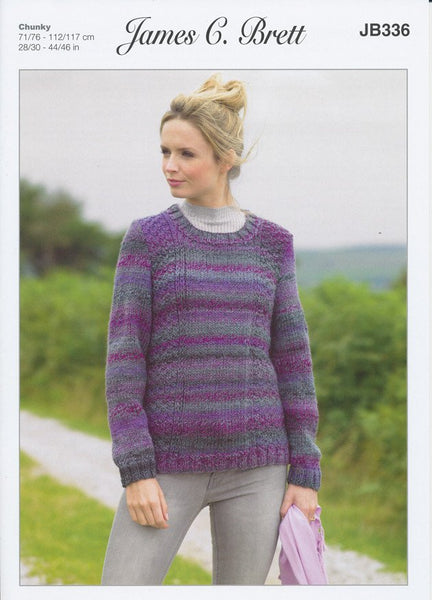 Sweater in James C. Brett Marble Chunky (JB336)