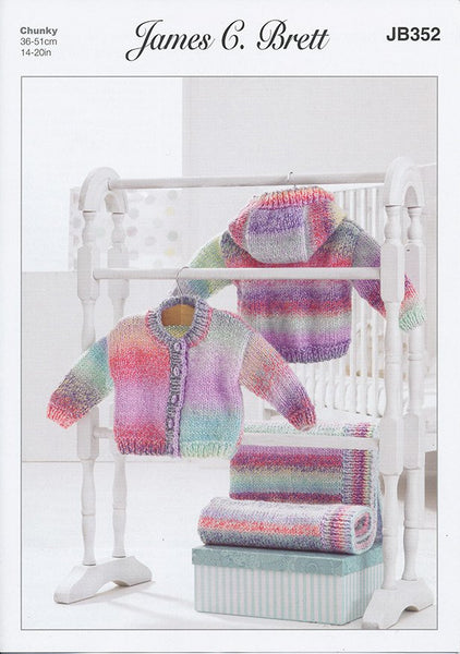 Jacket and Blanket in James C. Brett Baby Marble Chunky (JB352)-Deramores