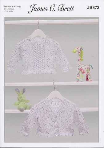 Cardigan and Sweater in James C. Brett Baby Twinkle Prints DK (JB372)-Deramores