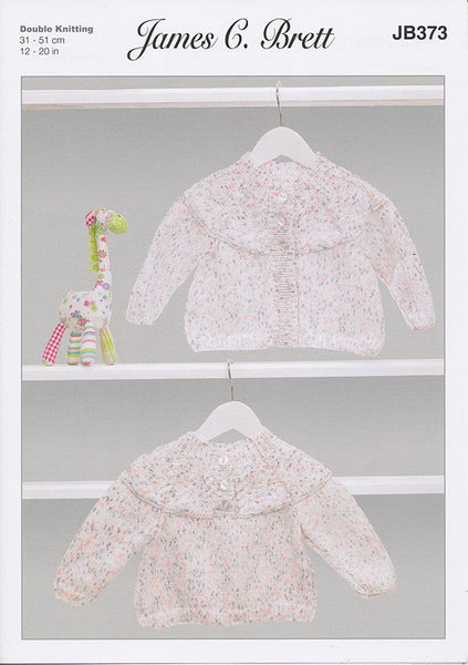 Cardigan and Sweater in James C. Brett Baby Twinkle Prints DK (JB373)-Deramores