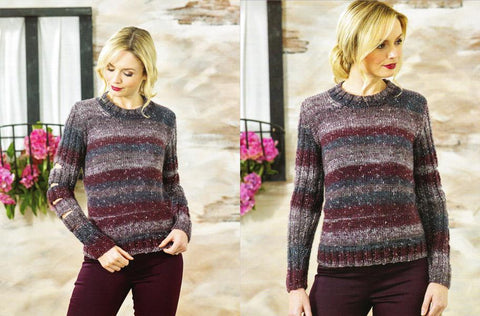 Ladies Sweater in James C. Brett Tuscany Chunky (JB467)