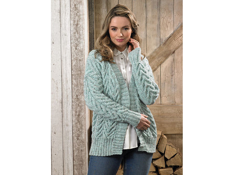 Cardigans in James C. Brett Rustic Aran (JB624)