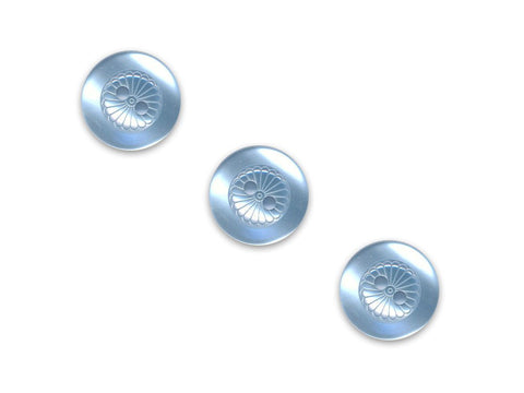 Round Petal Effect Buttons - Blue - 069