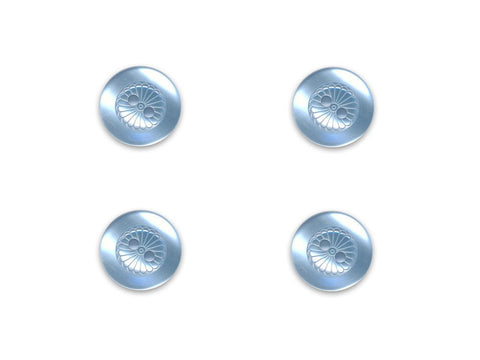 Round Petal Effect Buttons - Blue - 068