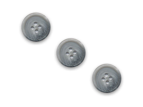 Rimmed Shell Effect  Round Buttons - Grey - 108