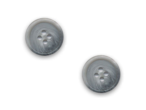 Rimmed Shell Effect  Round Buttons - Grey - 109