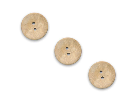 Round Shell Effect Buttons - Beige - 117