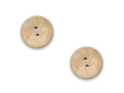 Round Shell Effect Buttons - Beige - 118