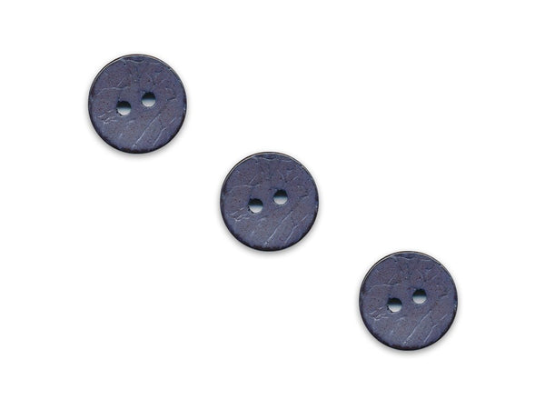 Round Shell Effect Buttons - Blue - 119