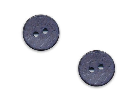 Round Shell Effect Buttons - Blue - 120