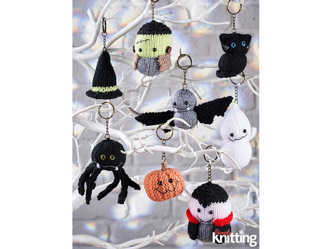 Simply Knitting Halloween Keyrings by Amanda Berry in Hayfield Bonus DK