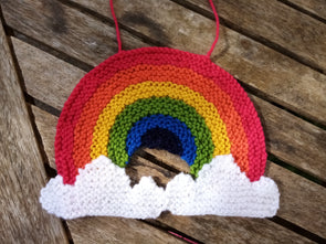 Rainbow Window Decoration Knitting Kit and Pattern in Deramores Yarn