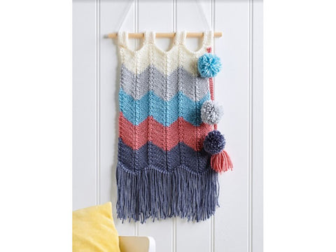 Let's Knit Knitted Wall Hanging Colour Pack in Deramores Studio Aran