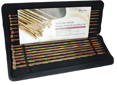 Knit Pro Symfonie Wood Single Point Knitting Needle Set - 30cm (Set of 8 Pairs)