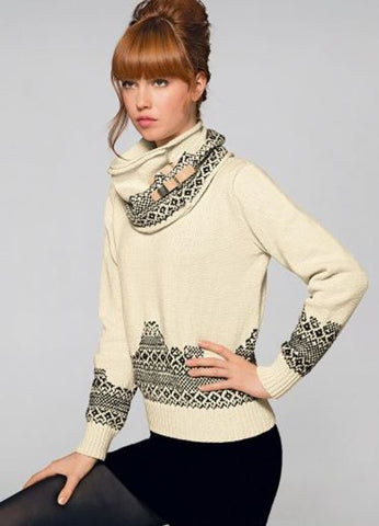 Large Jacquard Snood in Bergere de France Ideal (704.83)-Deramores