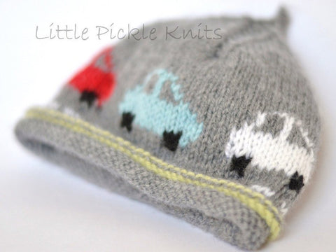 Little Cars Beanie by Linda Whaley - Digital Version-Deramores