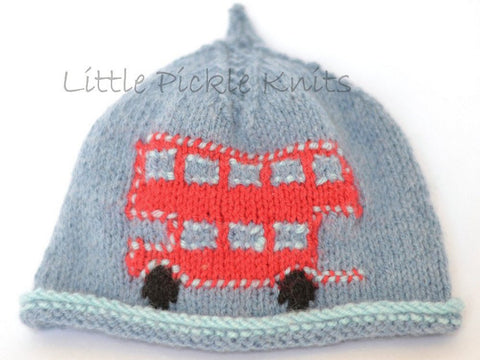 Little Red Bus Beanie by Linda Whaley - Digital Version-Deramores