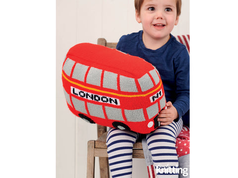 Simply Knitting London Bus Toy Cushion Colour Pack in Hayfield Yarn