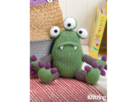 Simply Knitting Monster Toy by Amanda Berry in Hayfield Yarn