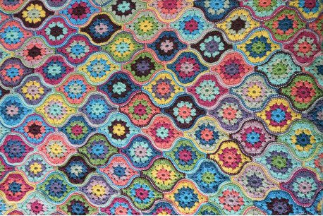 Mystical Lanterns Blanket by Jane Crowfoot in Stylecraft Life DK