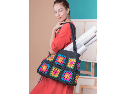 Granny Square Bag Crochet Kit and Pattern in Novita Yarn
