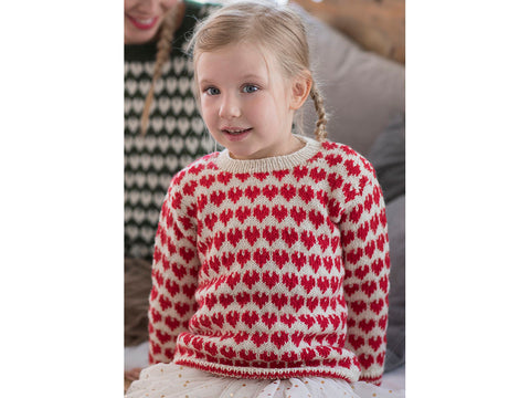 Children's Colourwork Sweater in Novita Nalle