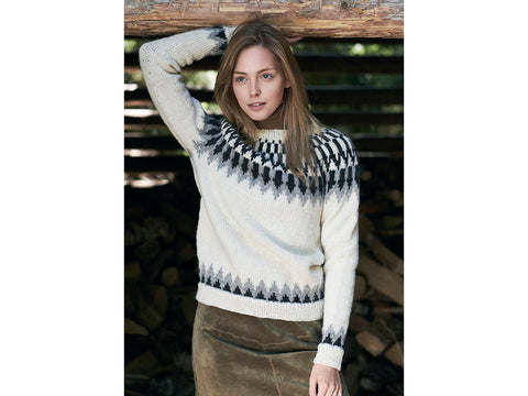 Women's Fairisle Sweater in Novita Natura