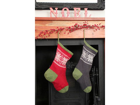 Osen Christmas Stocking by Alison Moreton in Baa Ram Ewe Titus Knitting Kit and Pattern