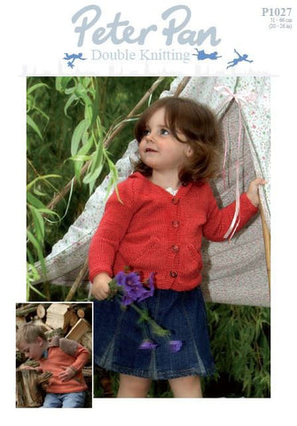 Collared Tunic and Hooded Jacket in Peter Pan DK (P1027) Digital Version-Deramores