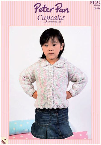 Cardigan with Lace Edgings (P1039) Digital Version-Deramores
