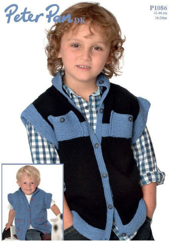 Gilet in Peter Pan DK (P1086) Digital Version-Deramores