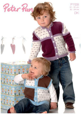 Jacket and Gilet in Peter Pan DK (P1128) Digital Version-Deramores
