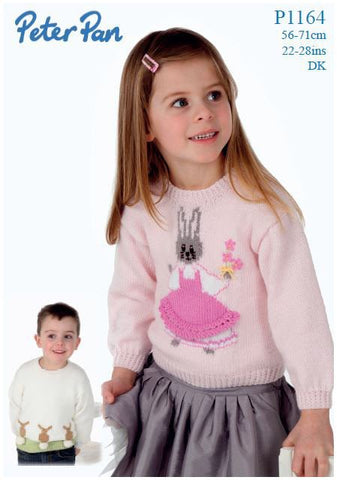 Bunny Sweaters in Peter Pan DK (P1164) Digital Version-Deramores