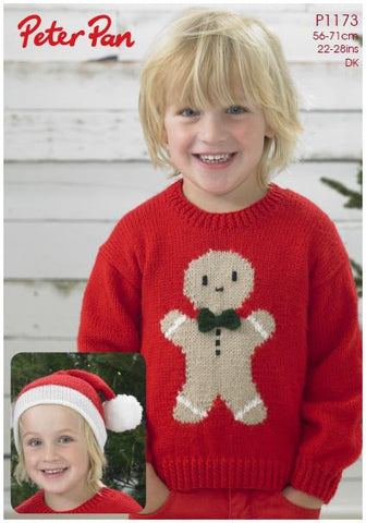 Gingerbread Sweater and Hat in Peter Pan DK (P1173) Digital Version-Deramores