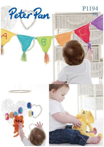 Tweety Bird Mobile, Rabbit and Bunting in Peter Pan DK (P1194) Digital Version