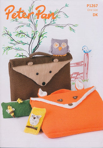 Animal Book Bags, Pencil Case, Phone Cover and Owl in Peter Pan DK (1267)-Deramores