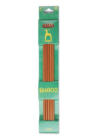 Pony Double Point Knitting Needles (Bamboo) - 20cm