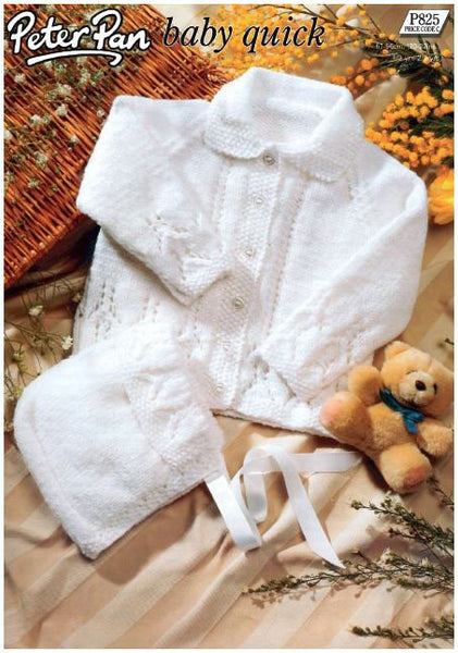 Baby's Coat and Bonnet in Peter Pan Baby Quick (P825) Digital Version-Deramores