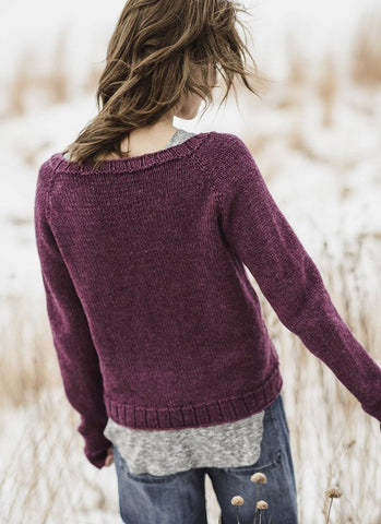 Cromwell Pullover in Blue Sky Woolstok (201615)-Deramores