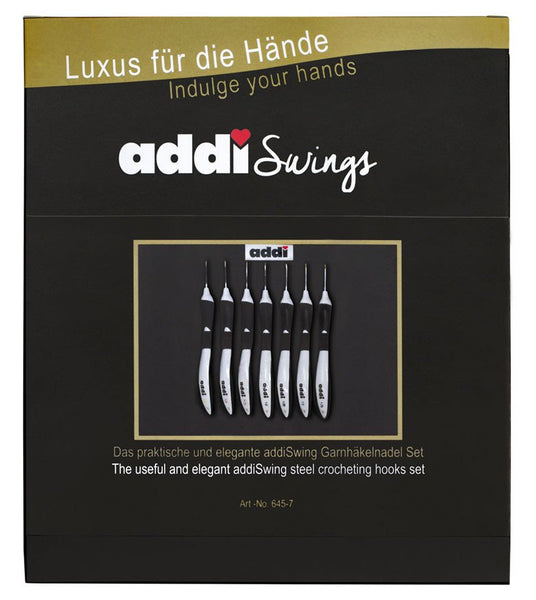 Addi Swing Crochet Hook Set with Hooks 0.5-1.75mm