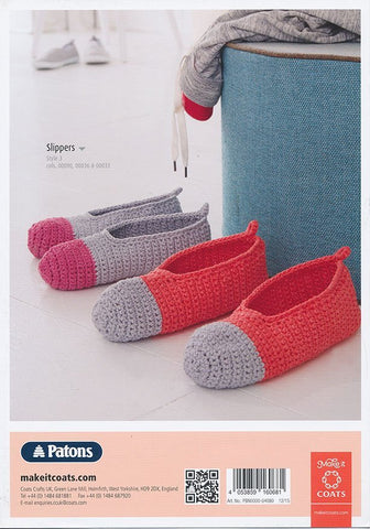 Ladies Crochet Hat, Cowl and Slippers in Patons Summer Cotton (4080)-Deramores