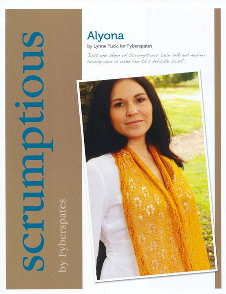 Alyona in Fyberspates Scrumptious Lace