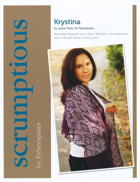 Krystina in Fyberspates Scrumptious Lace