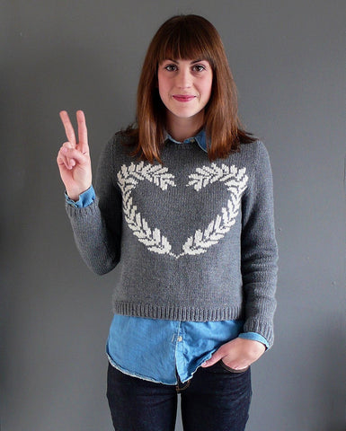Peace & Love Sweater by Anna Ravenscroft - Digital Version