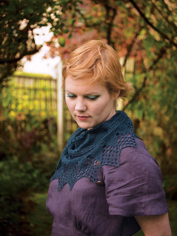 Pear Drop Shawl in Fyberspates Scrumptious Lace by Ysolda