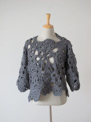 Crochet Lace Sweater (UK) - Erika Knight - Digital Version