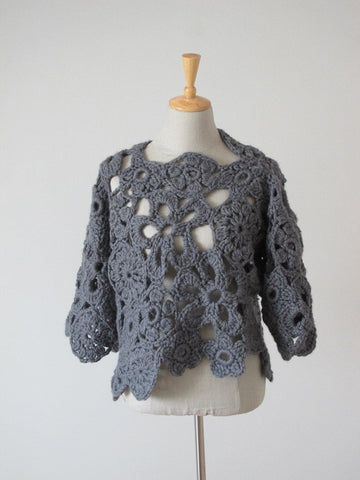 Crochet Lace Sweater (UK) - Erika Knight - Digital Version-Deramores