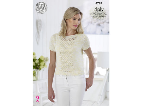 Top in King Cole Giza Cotton Sorbet 4 Ply Kit