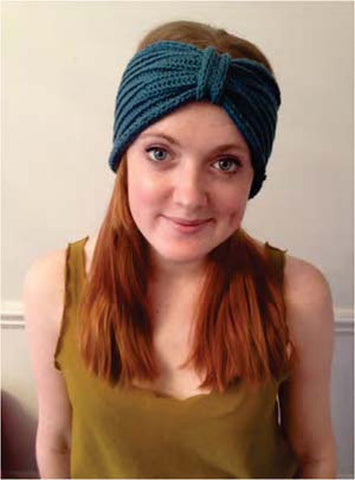 Ribbed Turban in Debbie Bliss Cotton DK - Digital Version