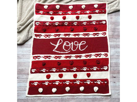 Eternal Love Blanket Crochet Along in Deramores Yarn